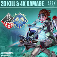 20 Kill and 4K Damage Badge | Apex Legends Season 7 | Any Legend | PS4/PC