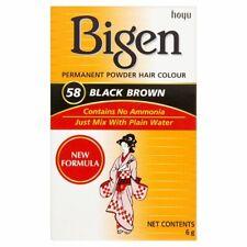 3 x Bigen Permanent Powder Hair Colour (58 Black Brown) 6g