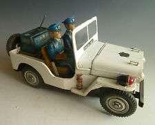T.N. Nomura Police Patrol No 3 Jeep Japan Blechspielzeug Batterie Big Size!