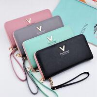 Fashion Ladies Purses Leather Wallets Women Long Zipper Purse Wallet Card -