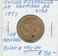 LAM(B) Token - Cocina Economica de Santiago - 1897 - Un Centavo