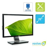 "Dell Professional P2210 22"" 1680x1050 16:10 LCD Monitor VGA DVI USB DP - Grade B"
