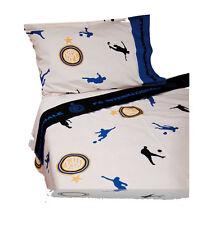 Lenzuola INTER una piazza e mezza 3 pezzi federa lenzuolo sopra lenzuolo sotto