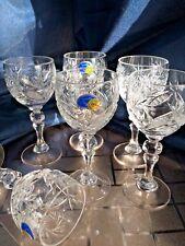 Crystal Glass  Set of 6 Liqueur Vodka Sherry 2 oz NEMAN Vintage Russian  Cut