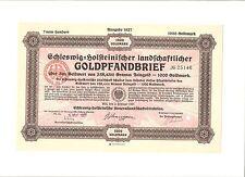 Alter Schleswig Holsteinischer landschaftlicher Goldpfandbrief 1000 Goldmark