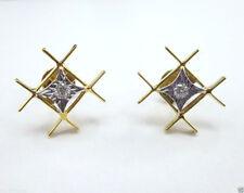 14K Beautifully Designed White Diamond Fancy Earring @ Free Shipping