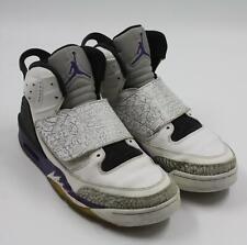 9ecb57f50ae Air Jordan Blanco de Hombre Gris Lila High Top Zapatillas Baloncesto Talla  9.5M