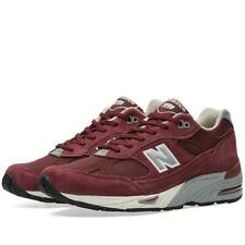 Mens New Balance 991 EBS Trainers UK Size 9 Maroon Suede Made in England