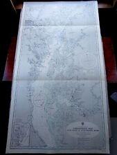 "1967 MARYLAND USA Chesapeake Bay BALTIMORE Susquehanna River Map 28"" x 55"" D65"