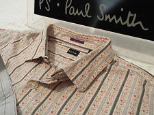 "PAUL SMITH Mens Shirt 🌍 Size 17"" (CHEST 44"") 🌎 RRP £95+📮 STRIPED FLORAL STYLE"