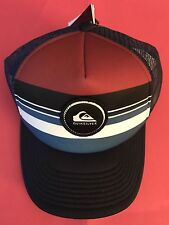 New Quiksilver Striped Vee Trucker Mens Snapback Cap Hat STYLE AQYHA03727