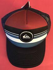New Quiksilver Striped Vee Trucker Mens Snapback Cap Hat STYLE AQYHA03727
