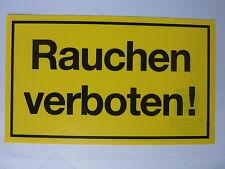 """Schild """"Rauchen verboten!"""" PVC 150x250mm"""