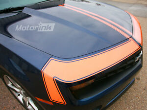 2010-2013 Chevy Camaro Hood Front Fascia Accent Blackout Stripes Decals Graphic