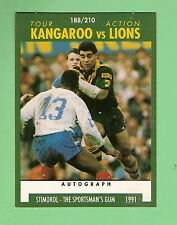 1991 RUGBY LEAGUE CARD #188,  KANGAROOS, MAL MENINGA