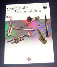1999 GREAT POPULAR INSTRUMENTAL SOLOS for Clarinet Warner Bros. Pub. CD included