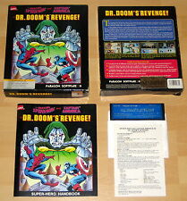 Dr. Doom's Revenge - Marvel/Empire 1989 RARE C64 Disk Game BIG BOX Commodore 64