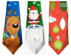 Musical Christmas Ties - Designs: Santa / Bauble or Reindeer