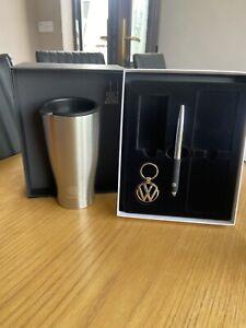 Genuine Vw Gift Box Set With Thermal Mug Keyring And Pen 000087700f