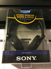 Sony MDR-V150 Black Stereo Headphones with Reversable Earcups NEW