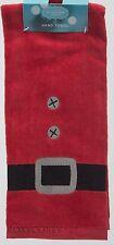 St Nicholas Square 2 16x25 Santa Belt Decorative Hand Towels NWT