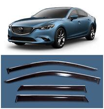 Chrome Trim Side Window Visors Guard Vent Deflectors For Mazda 6 Sedan 2013-2017