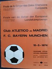 More details for 1974 european cup final - atletico madrid 🇪🇦 v bayern munich 🇩🇪