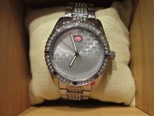 Marc Echo Rhino Silver Wrist Watch with Bling