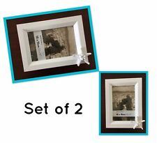 White Photo Frames With Starfish Set Of 2