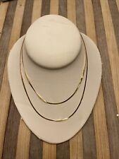 """18 karat gold 30"""" necklace beautiful! 🔥🔥"""