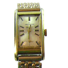 Helvetia Gold Plated Ladies Wrist Watch c. Late 60's Early 70's