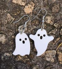 Ghost Earrings Laser Cut White Acrylic Gift Ideas Halloween Cute And Spooky