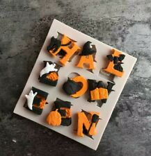 HALLOWEEN SILICONE MOULD/MOLD-EPOXY RESIN-LETTERS/WORD-ICING/CUPCAKE TOPPERS