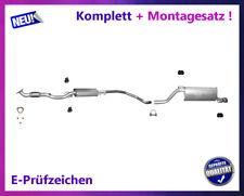Auspuffanlage Opel Corsa D E 1.4 55/64/66/74KW Auspuff Montagesatz Chrom