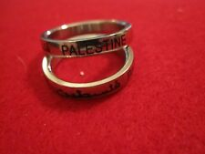"Palestine ""Eternity Ring""  Arabic/English Quality Ring Palestinian Pride"