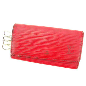 Louis Vuitton Key holder Key case Epi Red Woman unisex Authentic Used T2164