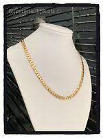 Collier Maille Haricot En Plaqué Or 18 carats 750/1000 NEUF Bijoux Femme