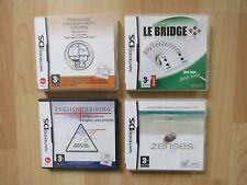 4 jeux Nintendo DS - English Training - Zenses - Bridge - Entrainement Cérébral
