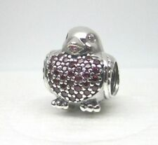 NEW Authentic PANDORA 791731CZR Red-Breasted Robin Bird Charm Bead