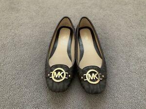 Michael Kors Fulton Moccasin Brown Logo Signature Flats Size UK 5.5 / US 8 M