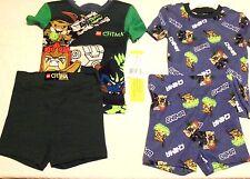 LEGO Chima Pajamas 2 Sets 4pc Sleepwear Shorts Green  Blue Size 4 New