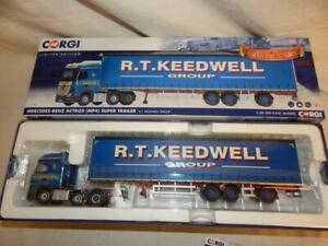 CORGI MERCEDES BENZ ACTROS MP4 SUPER TRAILER R T KEEDWELL GROUP CC15808 MIB 1:50