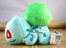 "New Cute Pokemon 6"" Bulbasaur Soft Plush Toy Stuffed Doll Pokedoll US Fast ship"
