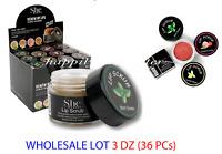 S.he Lip Scrub - WHOLESALE LOT 3 dz (36 PCs) - 4 Flavors x 9 PCs each!