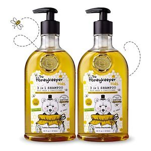 2 PC The Honeykeeper Kids Little Chamomile 3in1 Shampoo, Body Wash & Conditioner
