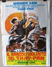 Il Braccio Violento del Thay Pan Bruce Lee Kung Fu Lebanese Movie Poster 70s