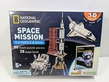 National Geographic SPACE MISSION 3-D Puzzle & Book Shuttle NASA Homeschool