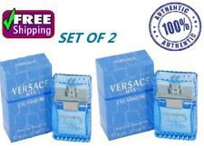 Mini Versace Man Cologne Blue Men Perfume Eau Fraiche EDT 0.17 Oz 5 Ml