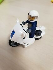 Lego City Policeman And Bike Minifigure