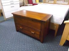 New Ex Debenhams Elba Acacia Wood Blanket Box Cabinet RRP£395